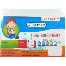 Fichas Bibliograficas 10CM X 15CM Blanca