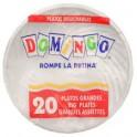 Plato Plastico 17.8CM Mediano Paquete x 20 Domingo