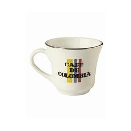 Pocillo Tintero Cafe De Colombia Porcelana Corona